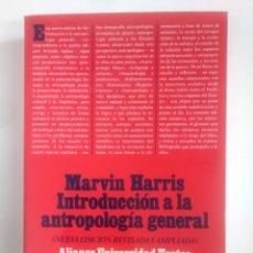 Libros de segunda mano: INTRODUCCIÓN A LA ANTROPOLOGÍA GENERAL. MARVIN HARRIS. ALIANZA UNIVERSIDAD. TDK386. Lote 170582515