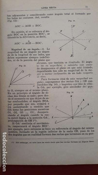 Libros de segunda mano: GEOMETRIA POR MIGUEL ORTEGA Y SALA. TOMO I PARTE ELEMENTAL 1942 - Foto 2 - 170610880
