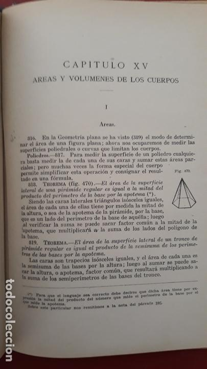Libros de segunda mano: GEOMETRIA POR MIGUEL ORTEGA Y SALA. TOMO I PARTE ELEMENTAL 1942 - Foto 3 - 170610880