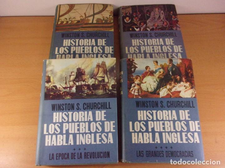 HISTORIA DE LOS PUEBLOS DE HABLA INGLESA / WINSTON S. CHURCHILL / 1ª ED. 1959-1960. LUIS DE CARALT (Libros de Segunda Mano - Historia - Otros)