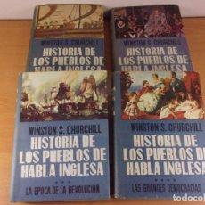 Libros de segunda mano: HISTORIA DE LOS PUEBLOS DE HABLA INGLESA / WINSTON S. CHURCHILL / 1ª ED. 1959-1960. LUIS DE CARALT. Lote 170856400
