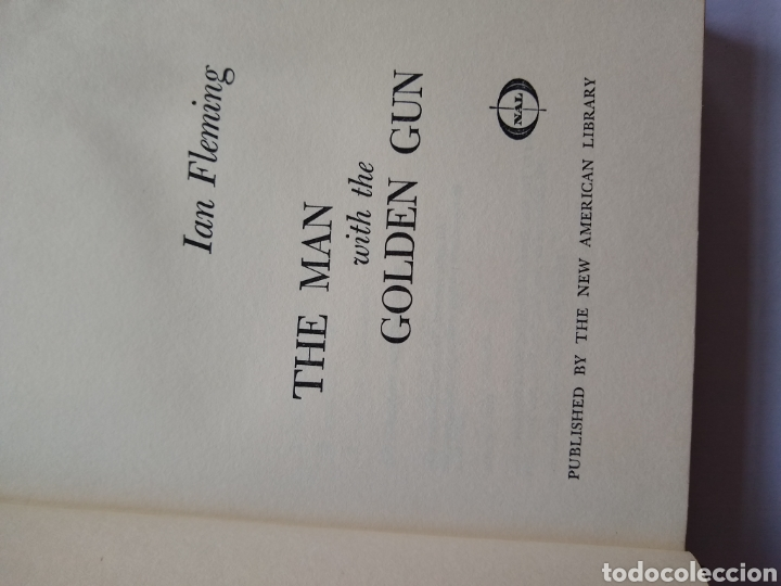 Libros de segunda mano: They man with they Golden gun ,1965 1 edición new american library N.Y 1ra impresion - Foto 3 - 170952107