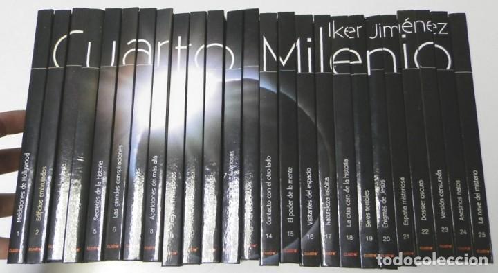 CUARTO MILENIO. IKER JIMÉNEZ. 25 LIBROS Y DVD