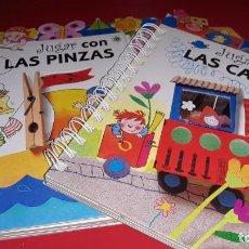 Libros de segunda mano: LOTE 2 LIBROS JUGAR CON LAS CAJAS Y JUGAR CON LAS PINZAS DE LA COCCINELLA 1996. Lote 170976213