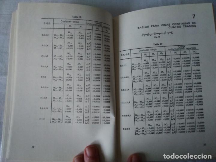 Libros de segunda mano: 107-TABLAS DE MOMENTOS PARA VIGAS CONTINUAS, H. Graudenz, 1973 - Foto 6 - 170983763