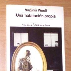 Libros de segunda mano: VIRGINIA WOOLF - UNA HABITACIÓN PROPIA - SEIX BARRAL, 1980. Lote 170895843