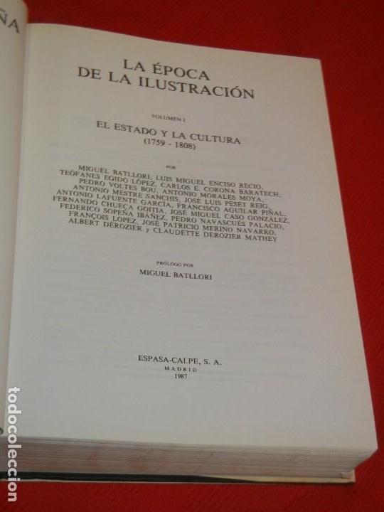Libros de segunda mano: HISTORIA DE ESPAÑA - RAMON MENENDEZ PIDAL LA EPOCA DE LA ILUSTRACION - VOL. XXXI (* Y **) 1987-1988 - Foto 5 - 171033048