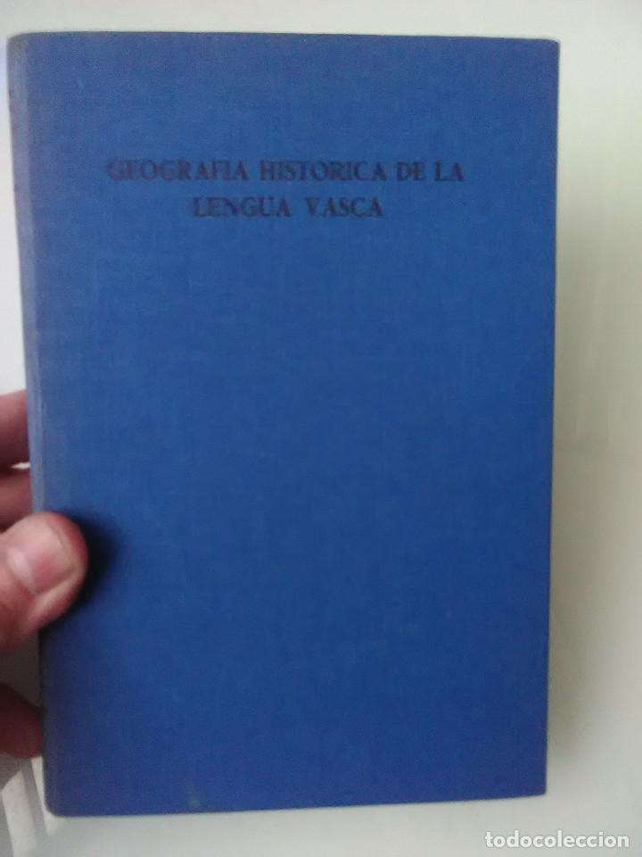 LIBRO GEOGRAFIA HISTORICA DE LA LENGUA VASCA (Libros de Segunda Mano - Ciencias, Manuales y Oficios - Otros)