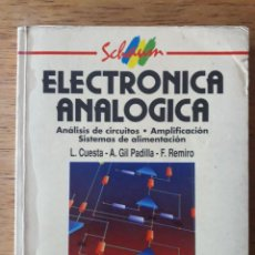 Libros de segunda mano: ELECTRÓNICA ANALÓGICA / L. CUESTA Y OTROS / EDI. MCGRAWHILL / EDICIÓN 1993. Lote 171046472