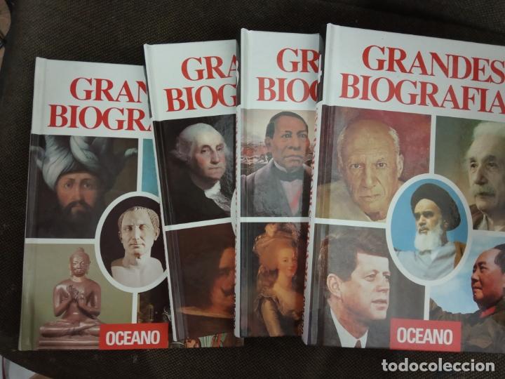 GRANDES BIOGRAFÍAS. OCÉANO. 4 TOMOS. 1992. (Libros de Segunda Mano - Literatura Infantil y Juvenil - Otros)