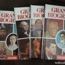 Libros de segunda mano: GRANDES BIOGRAFÍAS. OCÉANO. 4 TOMOS. 1992. . Lote 171054608