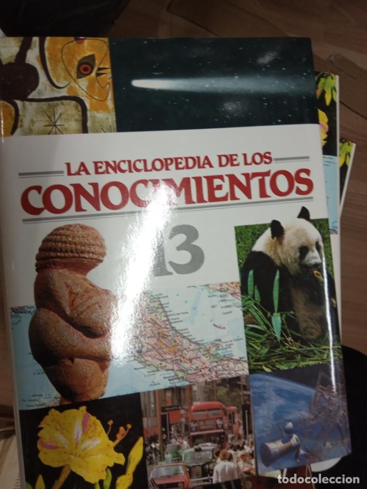 LA ENCICLOPEDIA DE LOS CONOCIMIENTOS, 16 VOLS. - OCEANO, 1994. (Libros de Segunda Mano - Ciencias, Manuales y Oficios - Otros)