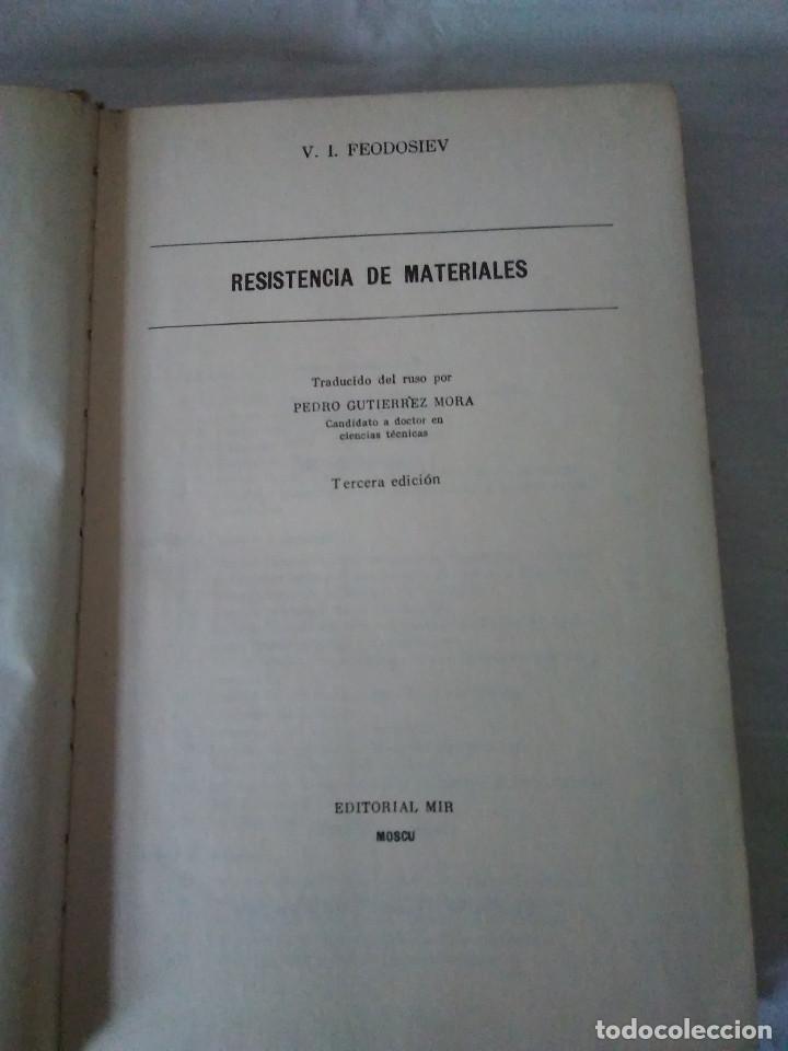 Libros de segunda mano: 78-RESISTENCIA DE MATERIALES , V.I. Feodosiev, Moscu, 1980 - Foto 2 - 171058780