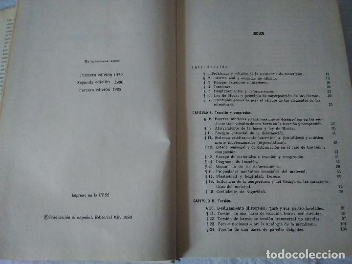 Libros de segunda mano: 78-RESISTENCIA DE MATERIALES , V.I. Feodosiev, Moscu, 1980 - Foto 4 - 171058780