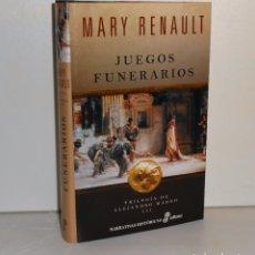 Libros de segunda mano: MARY RENAULT , JUEGOS FUNERARIOS: TRILOGIA DE ALEJANDRO MAGNO III , EDHASA. Lote 171104413