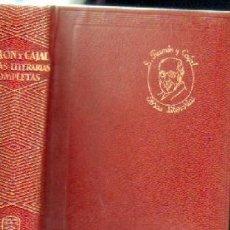 Libros de segunda mano: OBRAS LITERARIAS COMPLETAS. A-AGUI-898. Lote 171105092