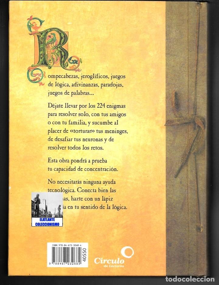 Libros de segunda mano: EL GRAN LIBRO DE LOS ENIGMAS ROMPECABEZAS Y JUEGOS DE LÓGICA - FABRICE MAZZA - CÍRCULO DE LECTORES - Foto 5 - 171112433