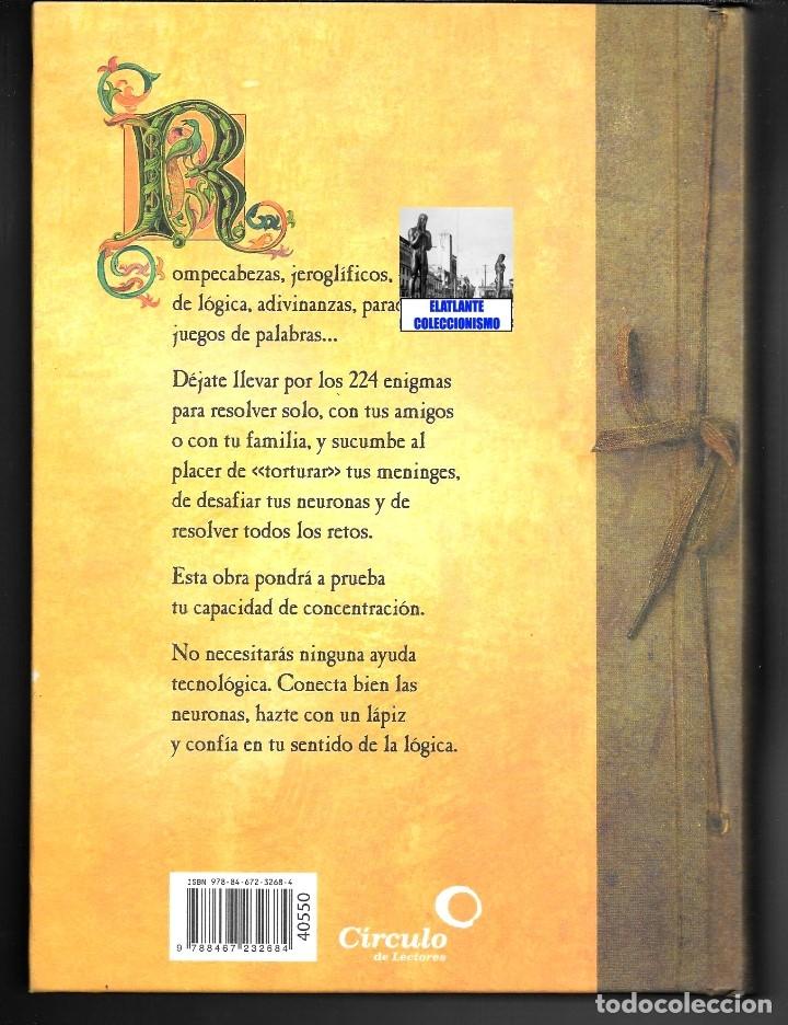 Libros de segunda mano: EL GRAN LIBRO DE LOS ENIGMAS ROMPECABEZAS Y JUEGOS DE LÓGICA - FABRICE MAZZA - CÍRCULO DE LECTORES - Foto 6 - 171112433