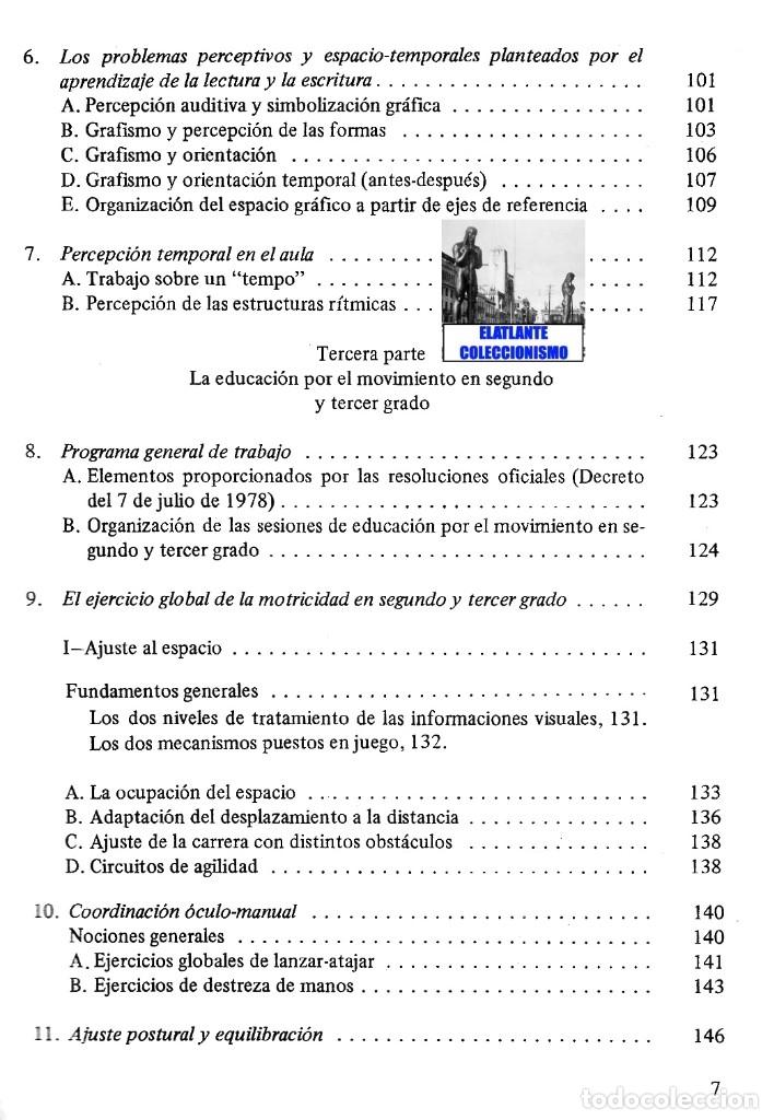 Libros de segunda mano: LA EDUCACIÓN PSICOMOTRIZ EN LA ESCUELA PRIMARIA - JEAN LE BOULCH PAIDÓS PSICOMOTRICIDAD - EXCELENTE - Foto 9 - 171113417