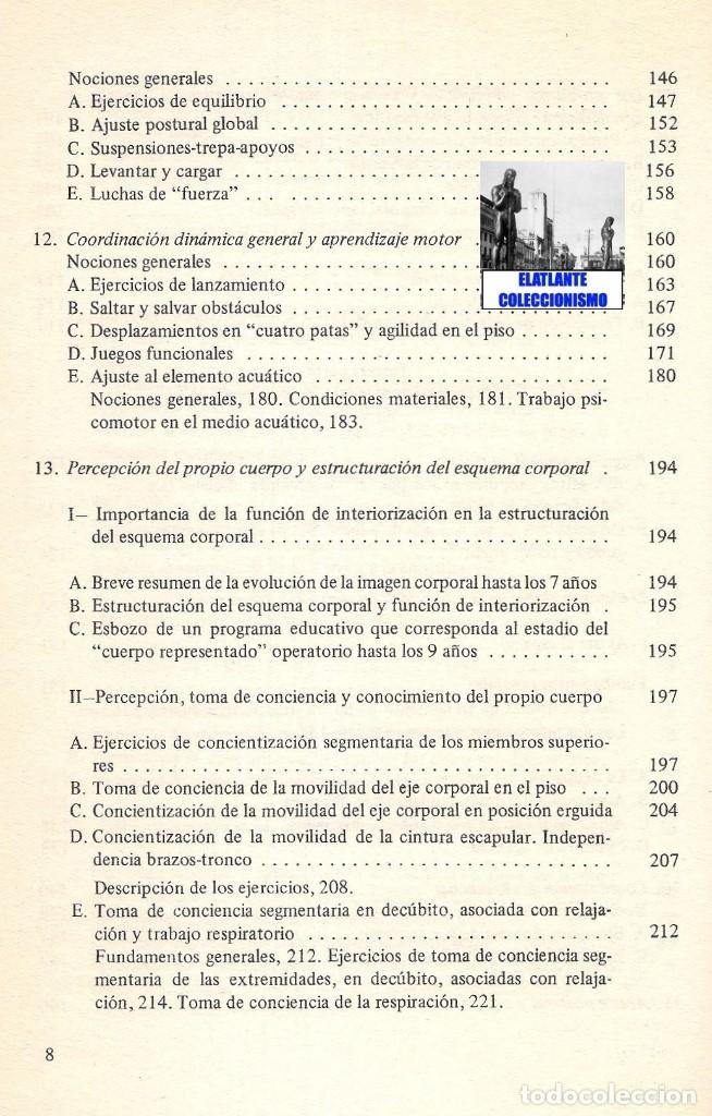 Libros de segunda mano: LA EDUCACIÓN PSICOMOTRIZ EN LA ESCUELA PRIMARIA - JEAN LE BOULCH PAIDÓS PSICOMOTRICIDAD - EXCELENTE - Foto 10 - 171113417