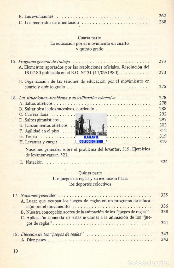 Libros de segunda mano: LA EDUCACIÓN PSICOMOTRIZ EN LA ESCUELA PRIMARIA - JEAN LE BOULCH PAIDÓS PSICOMOTRICIDAD - EXCELENTE - Foto 12 - 171113417