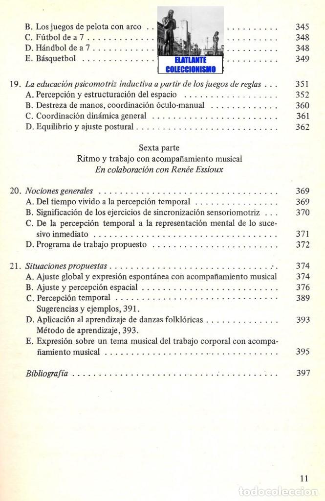 Libros de segunda mano: LA EDUCACIÓN PSICOMOTRIZ EN LA ESCUELA PRIMARIA - JEAN LE BOULCH PAIDÓS PSICOMOTRICIDAD - EXCELENTE - Foto 13 - 171113417