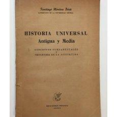 Libros de segunda mano: HISTORIA UNIVERSAL ANTIGUA Y MEDIA: CONCEPTOS FUNDAMENTALES Y PROGRAMA DE LA ASIGNATURA. Lote 171126742