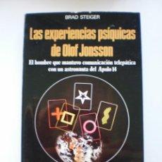 Libros de segunda mano: LAS EXPERIENCIAS PSIQUICAS DE OLOF JONSSON. Lote 171139078