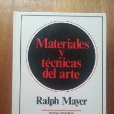 Libros de segunda mano: MATERIALES Y TECNICAS DEL ARTE, RALPH MAYER, TURSEN HERMANN BLUME EDICIONES, 1993. Lote 171145085