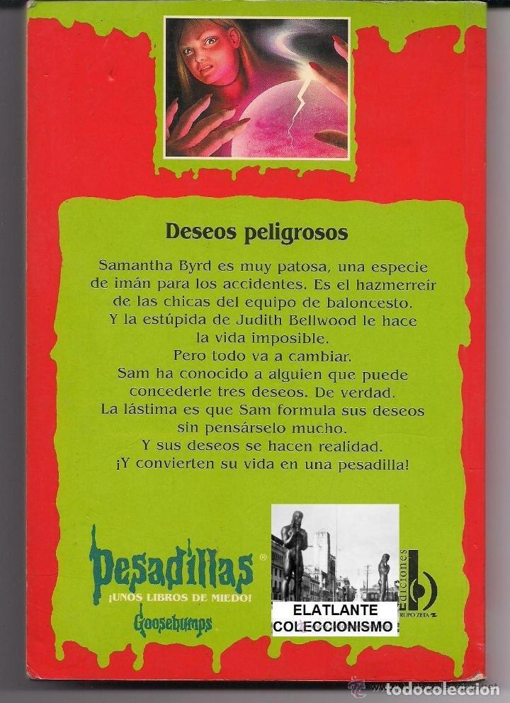 Libros de segunda mano: PESADILLAS - DESEOS PELIGROSOS - R.L. STINE - EDICIONES B - B. ESTADO - PEDIDO MÍNIMO 10 EUROS - Foto 2 - 171213477