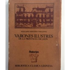 Libros de segunda mano: VARONES ILUSTRES DE LA PROVINCIA DE LEÓN. Lote 171256018