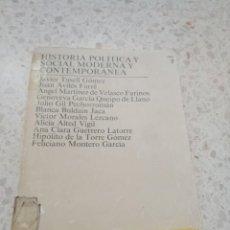 Libros de segunda mano: HISTORIA POLITICA Y SOCIAL MODERNA Y CONTEMPORANEA. TOMO 2. Lote 171272025