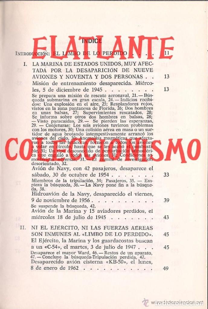 Libros de segunda mano: EL LIMBO DE LO PERDIDO JOHN WALLACE SPENCER OTROS MUNDOS TRIANGULO BERMUDAS PLAZA JANES 1977 - 14 € - Foto 5 - 171276798