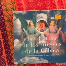 Libros de segunda mano: LAS CARTAS DE LOS ÁNGELES DE LA CÁBALA. CONTIENE DOS BARAJAS SIN ESTRENAR.. Lote 171324280