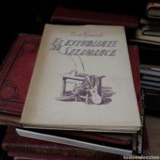 Libros de segunda mano: JOSÉ DE ESPRONCEDA, EL ESTUDIANTE DE SALAMANCA,ARGOS 1947. Lote 171352655