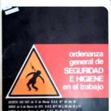 Libros de segunda mano: 23233 - ORDENANZA GENERAL DE SEGURIDAD E HIGIENE EN EL TRABAJO - PUBLICACION DE CALTU. Lote 171403445