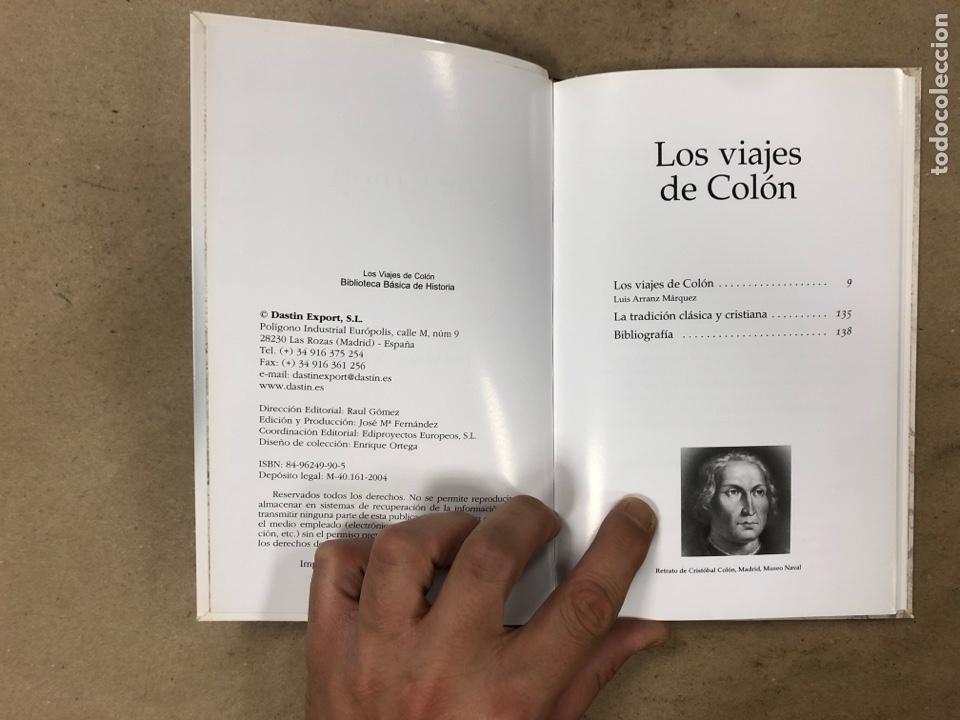 Libros de segunda mano: LOS VIAJES DE COLON. BIBLIOTECA BÁSICA DE HISTORIA. EDITADO EN 2004. ILUSTRADO. 138 PÁGINAS. - Foto 2 - 171406389