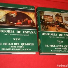 Libros de segunda mano: HISTORIA DE ESPAÑA - RAMON MENENDEZ PIDAL EL SIGLO DEL QUIJOTE (1580-1680) - VOL. XXVI (* Y **) . Lote 171422092