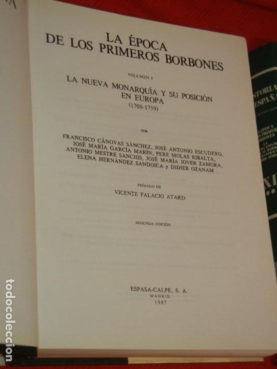 Libros de segunda mano: HISTORIA DE ESPAÑA - RAMON MENENDEZ PIDAL LA EPOCA DE LOS PRIMEROS BORBONES - VOL. XXIX (* Y **) - Foto 2 - 171423015