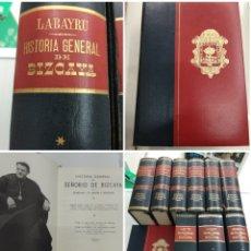 Libros de segunda mano: HISTORIA GENERAL DEL SEÑORIO DE BIZCAYA 9 VOLS + EPILG OBRA COMPLETA LABAYRU 2° EDICION PAIS VASCO. Lote 171434995