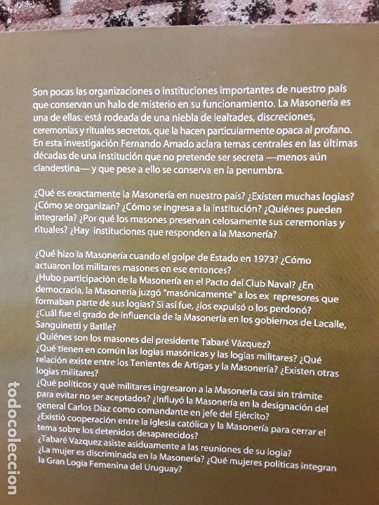 Libros de segunda mano: En penumbras (La masonería uruguaya 1973-2008), de Fernando Amado. Raro. - Foto 2 - 171422688