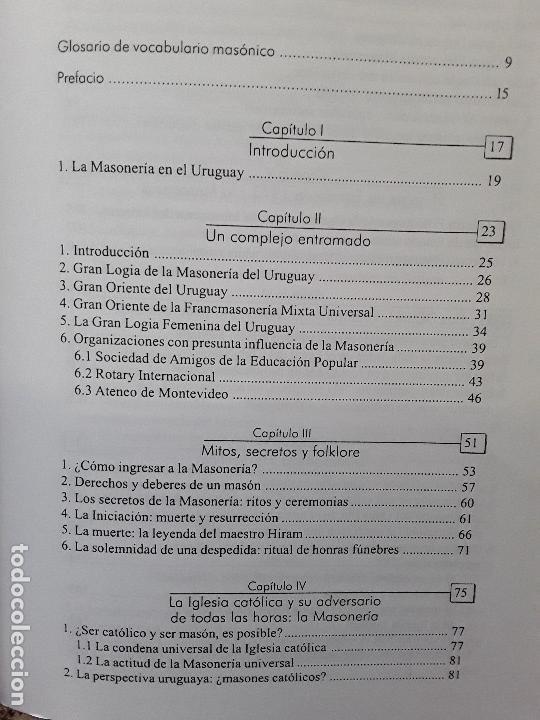 Libros de segunda mano: En penumbras (La masonería uruguaya 1973-2008), de Fernando Amado. Raro. - Foto 4 - 171422688