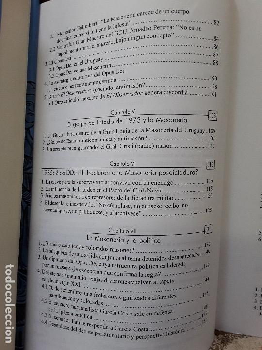 Libros de segunda mano: En penumbras (La masonería uruguaya 1973-2008), de Fernando Amado. Raro. - Foto 5 - 171422688