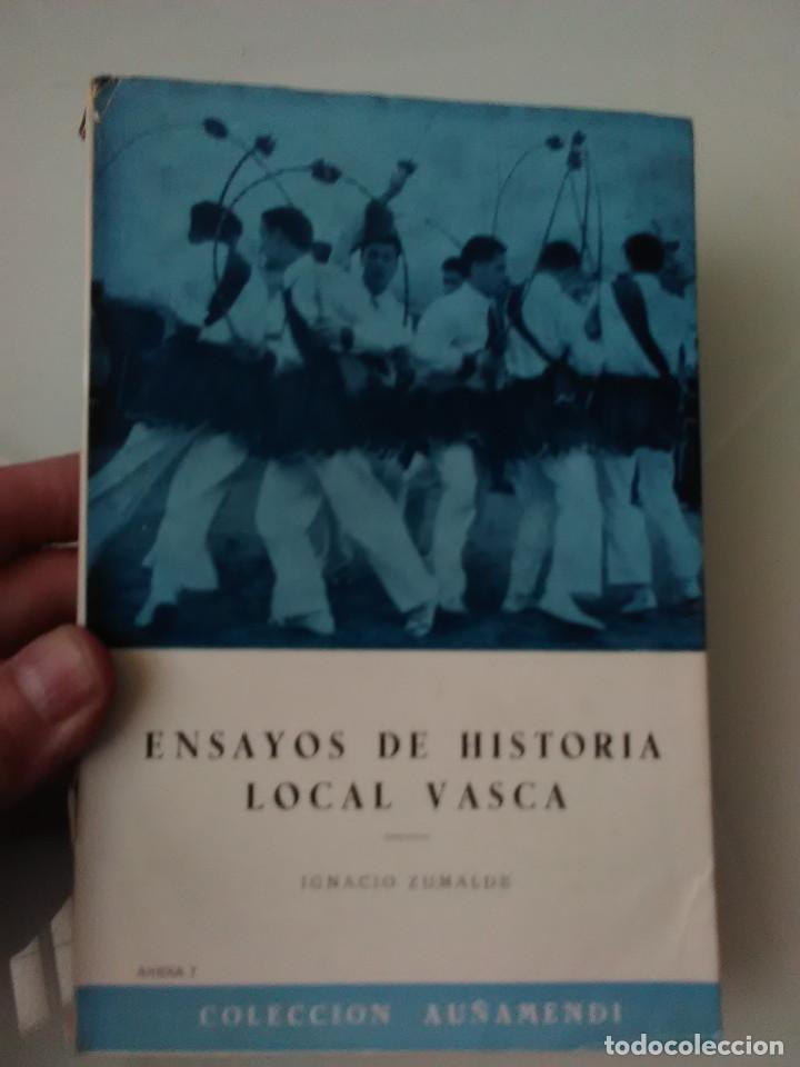 LIBRO ENSAYOS DE HISTORIA LOCAL VASCA (Libros de Segunda Mano - Ciencias, Manuales y Oficios - Otros)