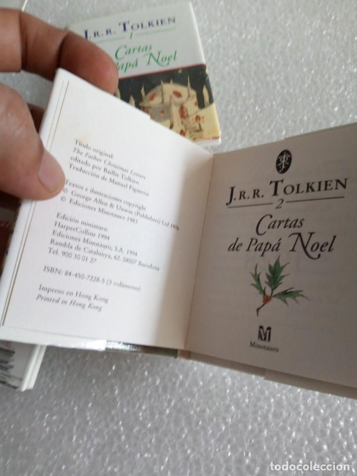 Libros de segunda mano: Cartas de Papá Noel, J. R.R. Tolkien, tres libros en estuche, miniatura, ed. Minotauro, 1994 - Foto 10 - 171488332