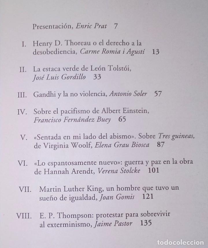 Libros de segunda mano: ENRIC PRAT (ED.) - PENSAMIENTO PACIFISTA - ICARIA, 2004 - Foto 2 - 171001765