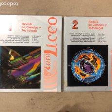 Libros de segunda mano: REVISTA DE CIENCIAS Y TECNOLOGÍA N° 1 Y 2. EDICIONES EUROLICEO 1990. VV.AA. ILUSTRADO.. Lote 171529639