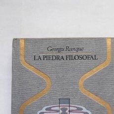 Libros de segunda mano: LA PIEDRA FILOSOFAL. (PLAZA & JANÉS, 1974). Lote 171539974