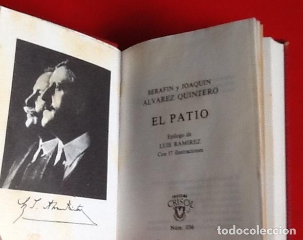 Libros de segunda mano: LIBRO EN MINIATURA. CRISOL. EL PATIO. ALVAREZ QUINTERO. 1973. ENVIO INCLUIDO. - Foto 2 - 171607503
