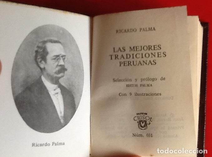 Libros de segunda mano: LIBRO EN MINIATURA. CRISOL. TRADICIONES PERUANA. RICARDO PALMA. 1970. ENVIO INCLUIDO. - Foto 2 - 171607727